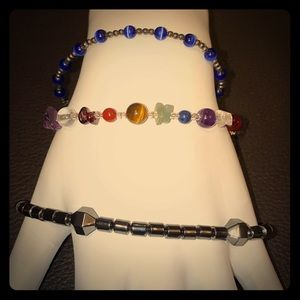Set of 3 Gorgeous Bead Bracelets